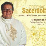 Ordenação Sacerdotal do primeiro Padre Dehoniano da cidade acontecerá na Igreja Matriz Santa Inês
