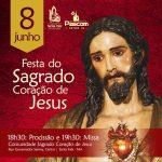 Venham participar da Festa do Sagrado Coração de Jesus