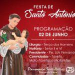 "TEMA: Que o exemplo de Santo Antonio, nos inspire a superar a violência. LEMA: ""Vós sois a Luz do Mundo"" (Mt. 5,14)"