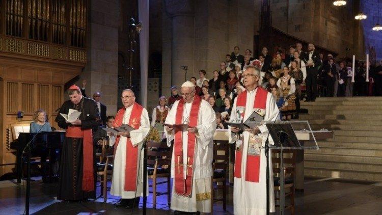 Em encontro com luteranos, Papa reitera valor do ecumenismo