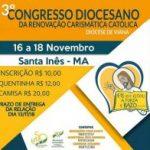 3º Congresso Diocesano da RCC, de 16 à 18 de Novembro. Participe!