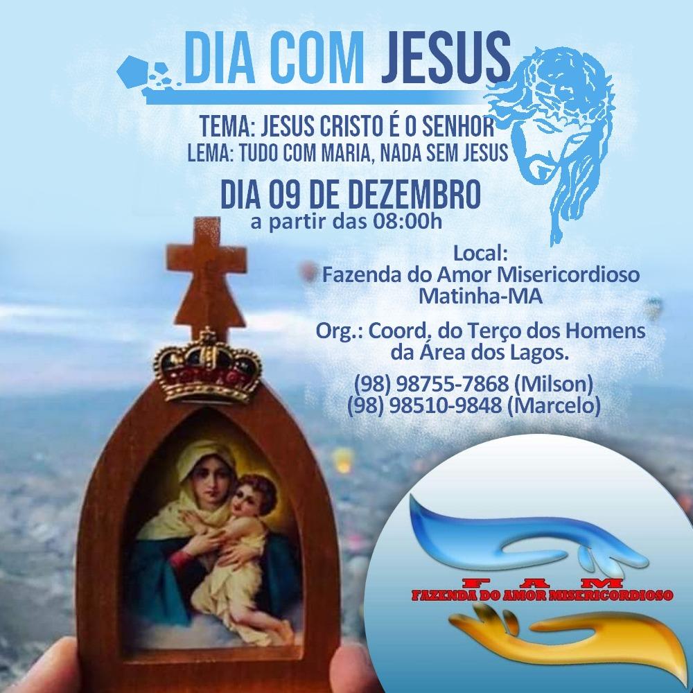 Dia com Jesus ! Venha participar