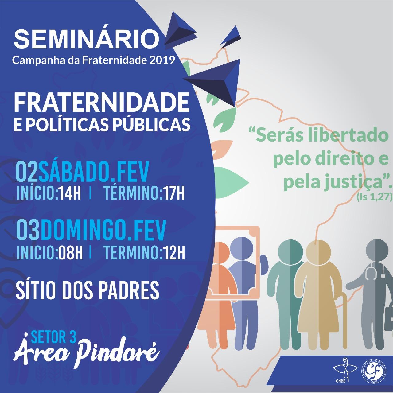 Seminário - Campanha da Fraternidade 2019