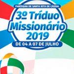 Programação do Tríduo Missionário 2019