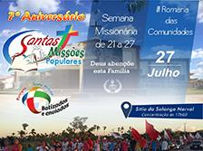 7º aniversário Santas Missões Populares
