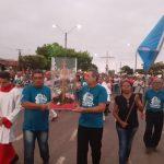 Chegada da Cruz e Bandeira do Mês das Missões na Paroquia Santo Antonio