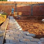 Paróquia Santa Rita de Buriticupu realizando o sonho da pavimentação do pátio da Igreja Matriz