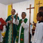Missa de posse de Frei Valadares na Paróquia Santa Luzia de Buriticupu
