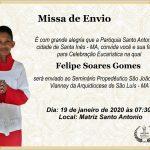 Missa de Envio do jovem Felipe Soares Gomes