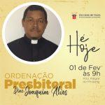 Dom Evaldo ordenará hoje primeiro Presbítero na Diocese de Viana
