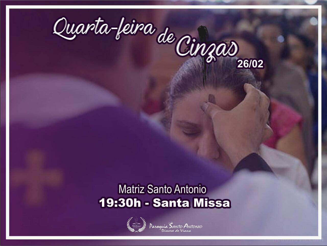 Missa de Cinzas - Paróquia Santo Antonio