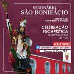Celebração da Santa Missa no Seminário São Bonifácio