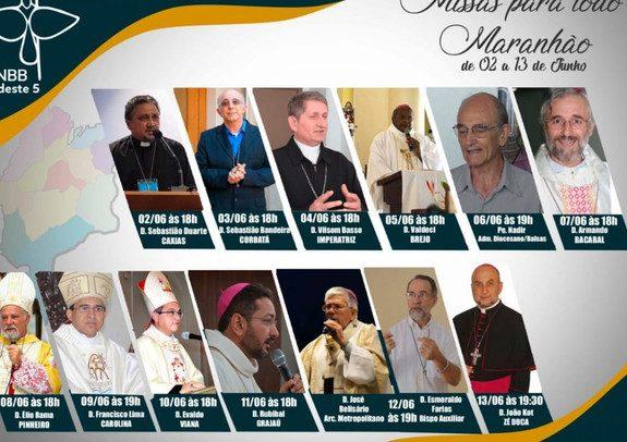 Bispos do Maranhão se unem para celebrar Missas ao vivo