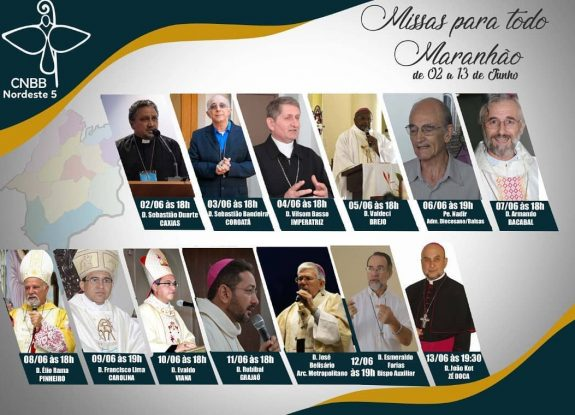 Acompanhe as celebrações das Missas