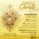 Programação de Corpus Christi – Paróquia Santa Inês