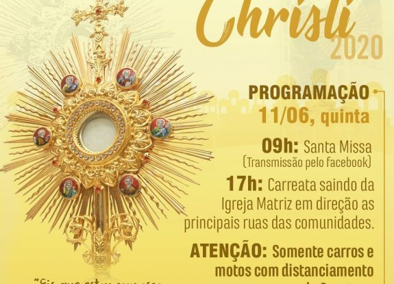 Programação de Corpus Christi - Paróquia Santa Inês