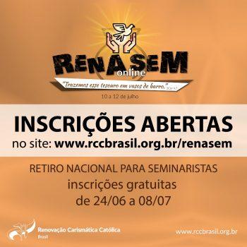 Inscrições Abertas para o RENASEM