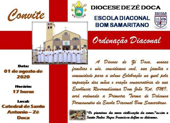 Diocese de Zé Doca (MA) ordenará seus primeiros diáconos permanentes