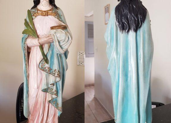 Inicia processo de restauração da imagem relíquia de Santa Luzia