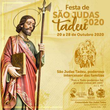 IGREJA DE SÃO JUDAS TADEU EM SANTA INÊS LANÇA IDENTIDADE VISUAL DO FESTEJO 2020
