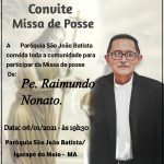 Participe da Missa de posse do novo pároco da Paróquia São João Batista (Igarapé do Meio – MA)