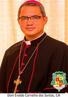 NOSSOS PARABÉNS AO NOSSO BISPO DIOCESANO D. EVALDO