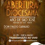Programação da Abertura do Ano Jubilar de São José