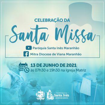 Santa Missa Paróquia Santa Inês - Transmissão pelo Facebook da Mitra Diocesana