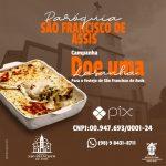 Campanha: Doe uma lasanha para o festejo de São Francisco de Assis