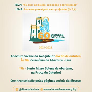 Programação do Jubileu de 60 anos da Diocese de Viana